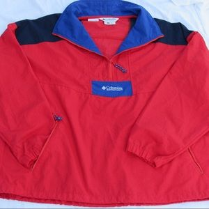VTG Columbia Windbreaker Half Zip Pullover Jacket